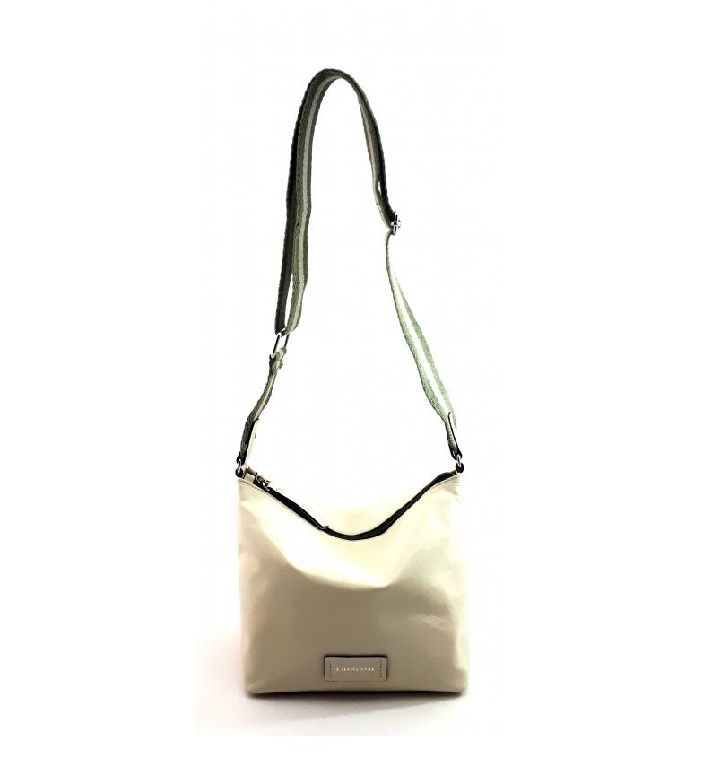 Comprar Dimoni Leather shoulder bag AC220STGRV19 white ecru -21x23x14cm