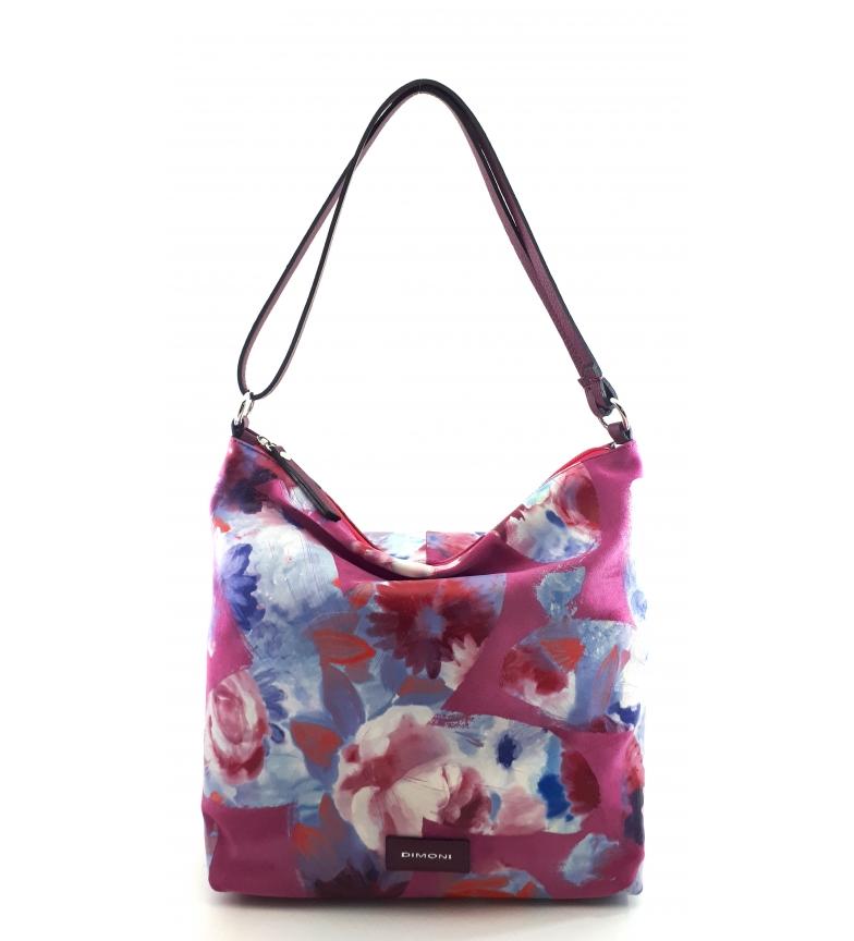 Comprar Dimoni AC222STEDFUFU borsa a tracolla in pelle rosa -32x31x12cm-