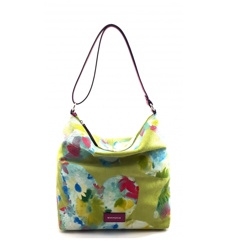 Comprar Dimoni AC222STED borsa a tracolla in pelle verde -32x31x12cm-