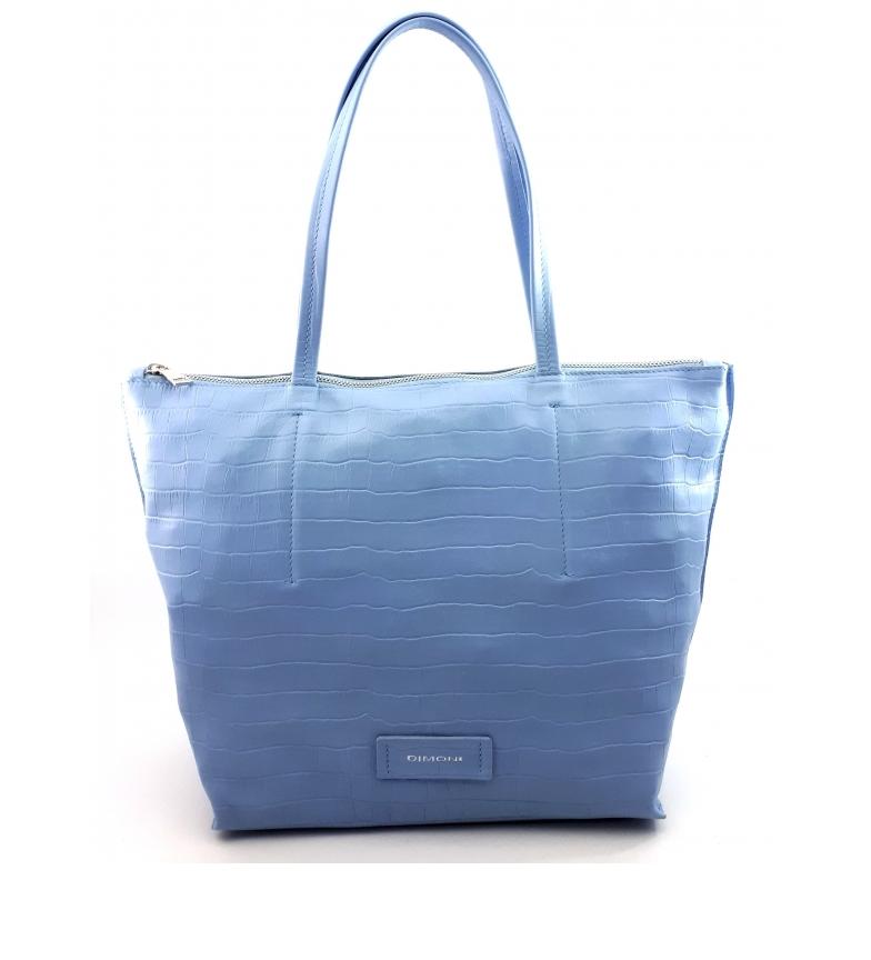 Comprar Dimoni Saco de couro azul -40 x 29 x 13 cm-.