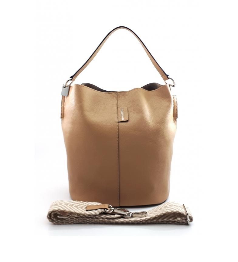 Dimoni Beige leather handbag AE110PAAR -26x28x16cm