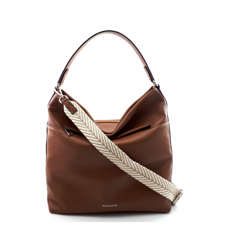 Comprar Dimoni Brown leather bag -31 x 23 x 15 cm-.