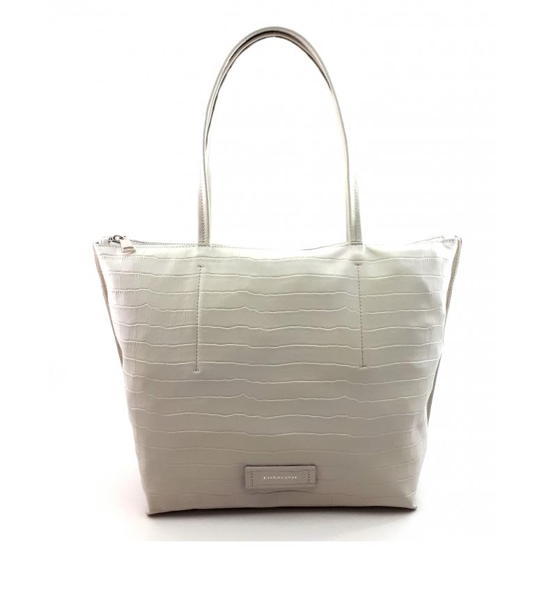 Comprar Dimoni White leather bag -40 x 29 x 13 cm-.