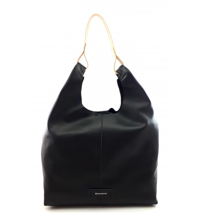 Comprar Dimoni Saco de couro preto -34 x 31 x 12 cm-.
