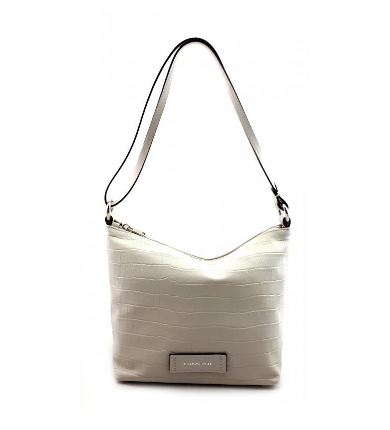 Dimoni White leather bag -23 x 21 x 14 cm-.