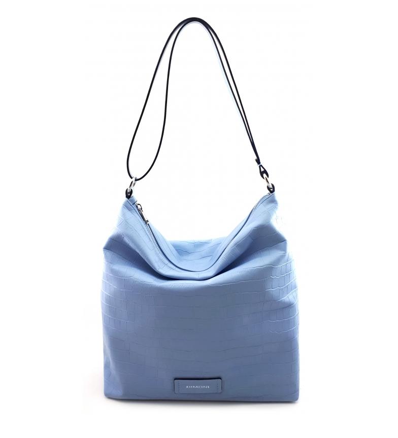 Comprar Dimoni Blue leather bag -32 x 31 x 12 cm-.