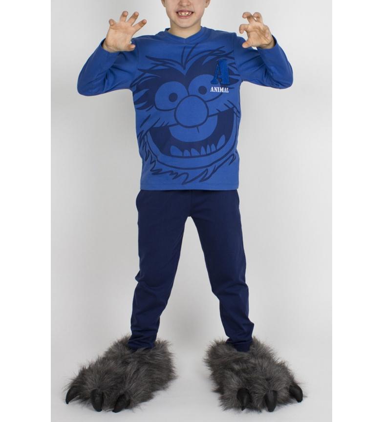 Comprar Disney Pijama Manga Larga Tween Animal Stripes azul