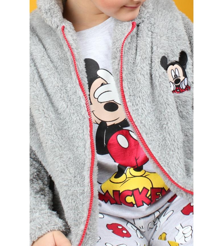 Comprar Disney Bata Manga Larga Calentita Mickey Icon gris