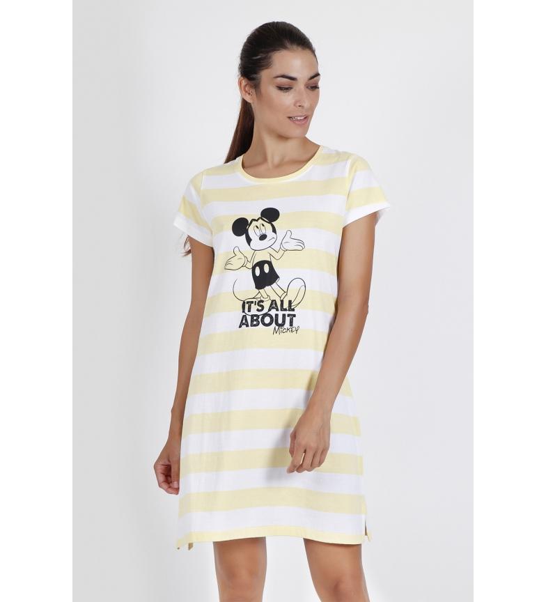 Comprar Disney Mickey sobre manga curta Camisole Yellow