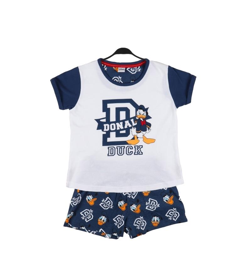 Disney Pyjama à manches courtes Donald blanc