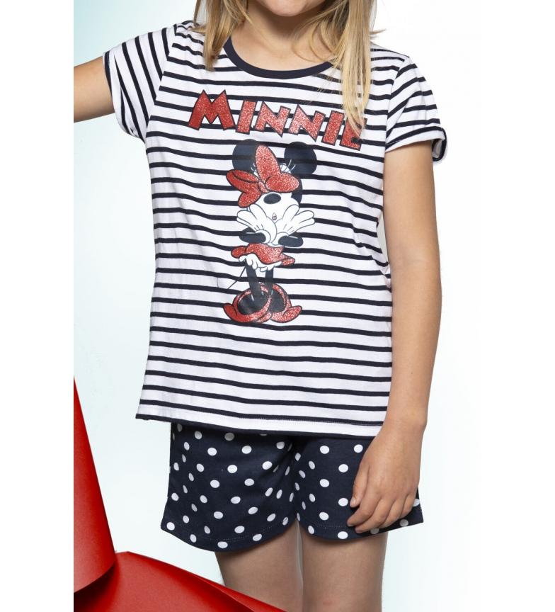Comprar Disney Pijama Manga Corta Minnie Navy blanco