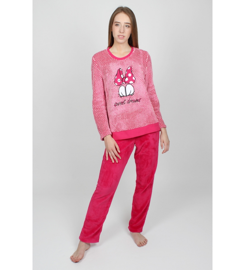 Comprar Disney Pajama Long Sleeve Warm Love Mouse burgundy