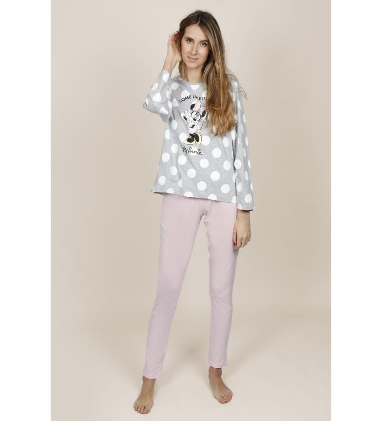 Comprar Disney & Friends Pijama Manga Larga Minnie Dots gris