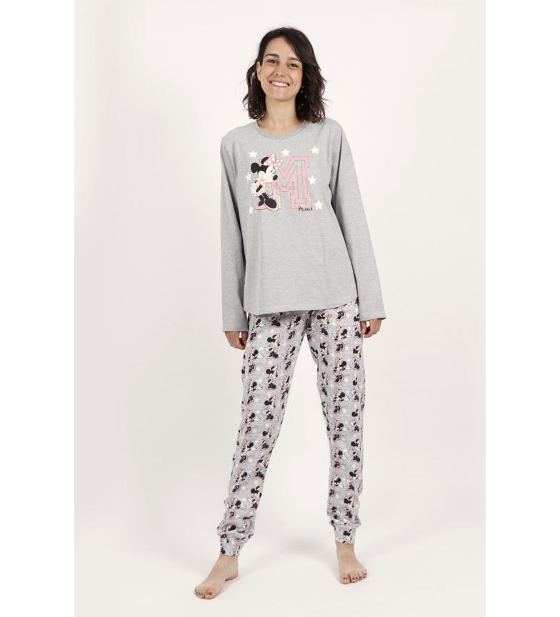 Disney & Friends Pyjama à manches longues Minnie Sport Gris