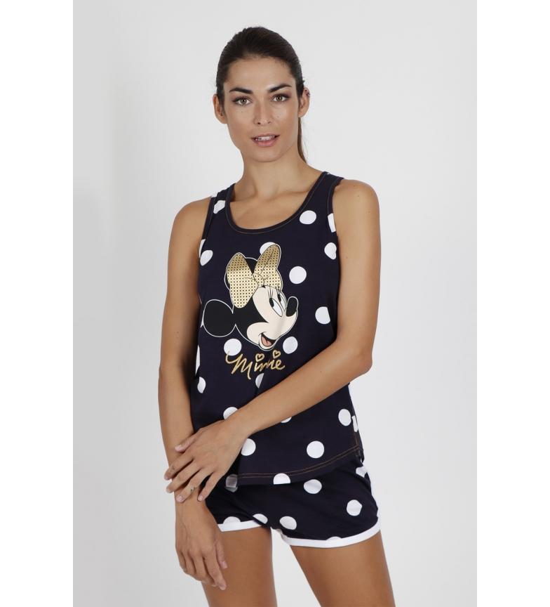 Comprar Disney Pyjamas Minnie Golden Bow navy strappy pyjamas