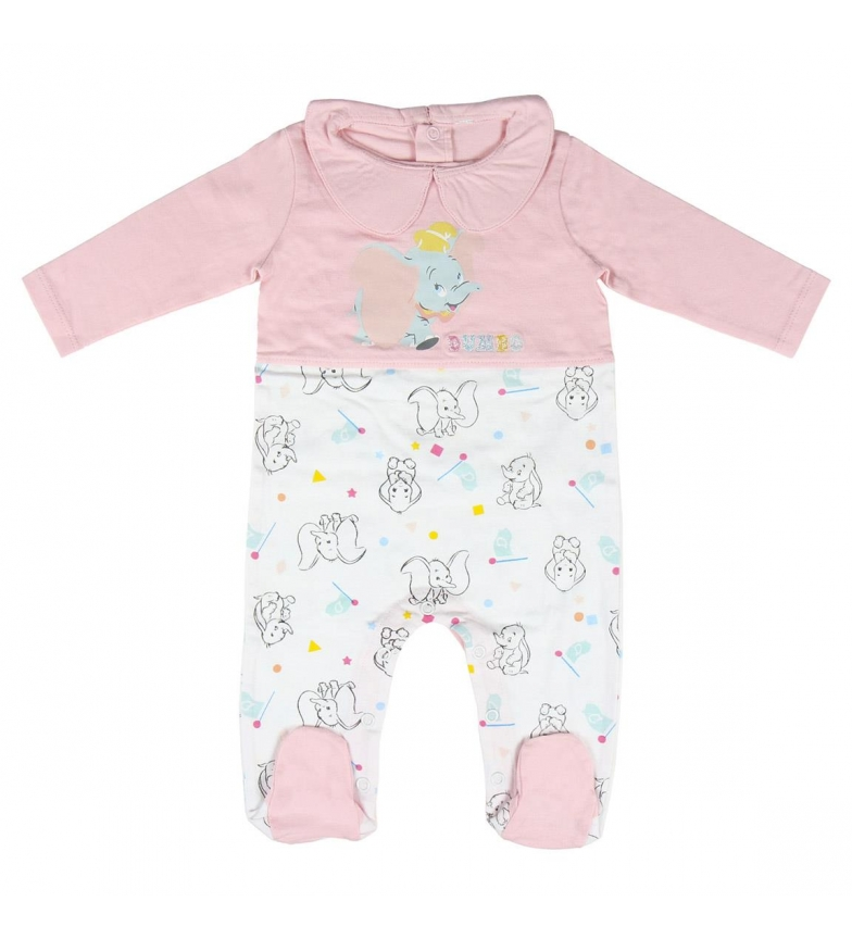 Comprar Disney & Friends Pagliaccetto Single Jersey Disney Dumbo rosa, bianco