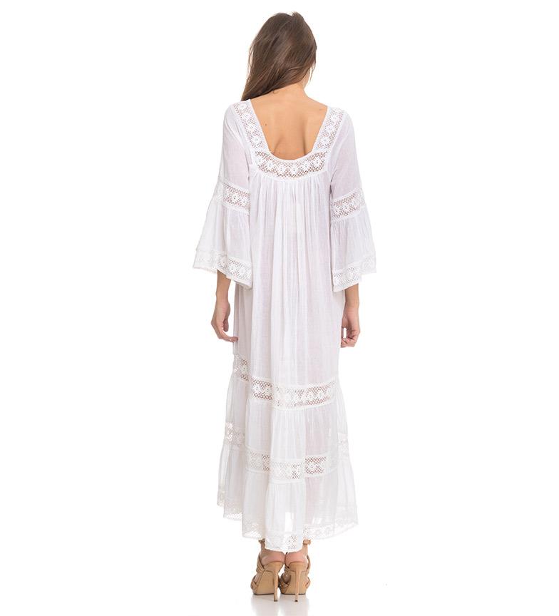Divine Vestido Tirtha blanco