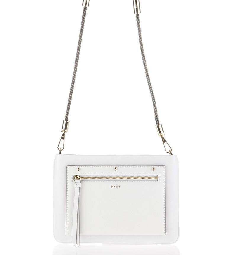 Comprar DKNY Bolso de piel Nappa Bungee blanco -27x13x3cm-