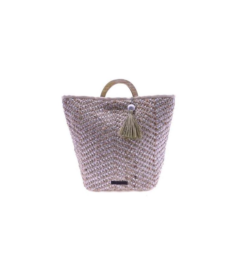 Comprar don algodon Borsetta in iuta grigio Ligüí -44x38x14 cm