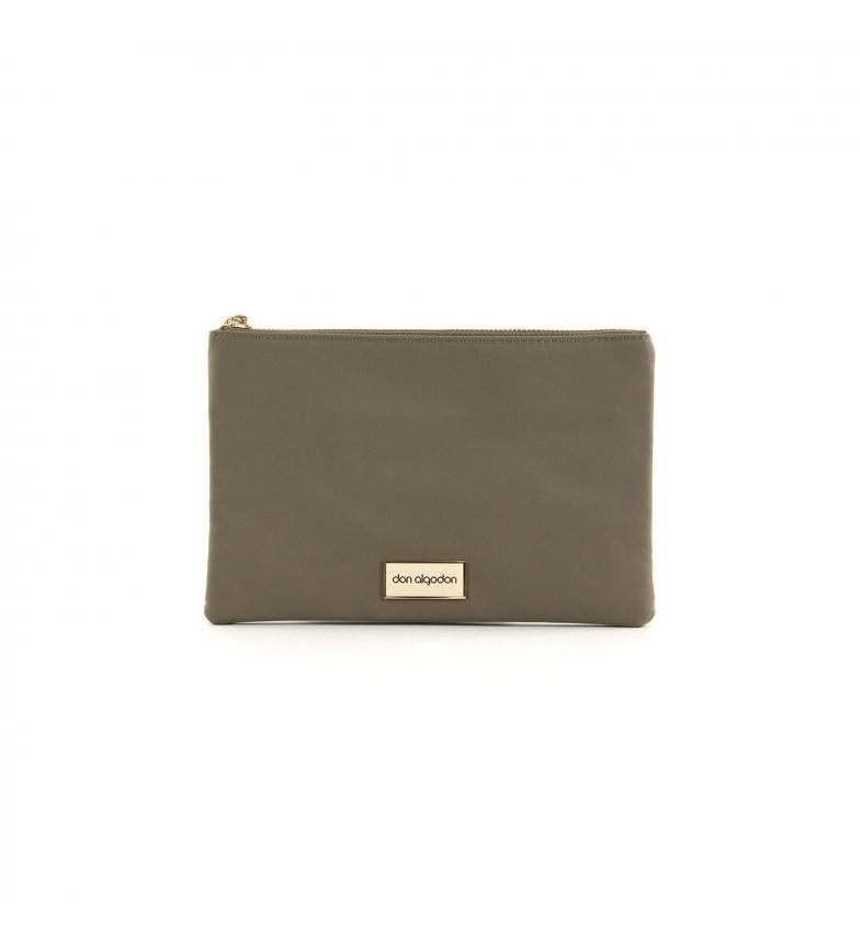 Comprar don algodon Beige Nylon Handbag -24.5x16 cm