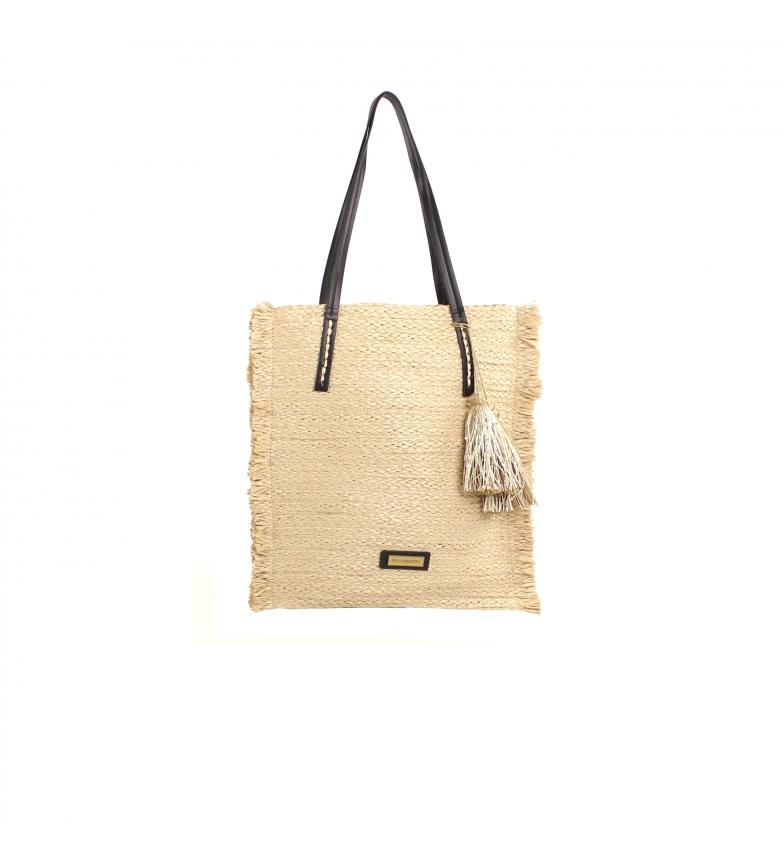 Comprar don algodon Multicoloured Seaside raffia shopper bag -37x40 cm