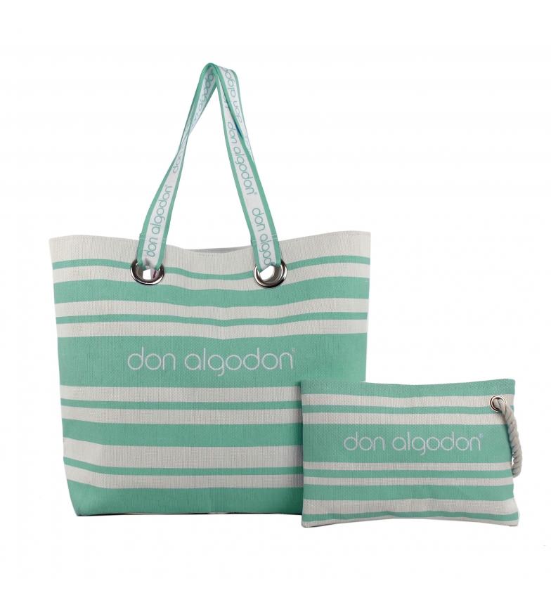 Comprar don algodon Capazo y bolso de mano Beach Edition verde -38x49x16.5 cm-