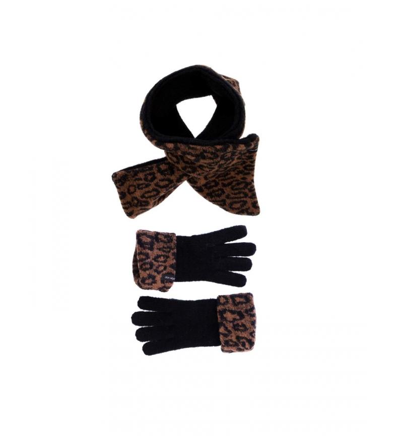 Comprar don algodon Pack scarf and gloves Risti animal print