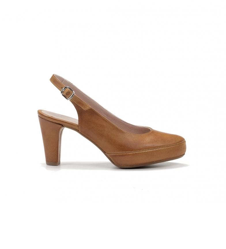 Comprar Dorking Leather Shoes D5833-sa Samun camel -Heel height 8cm