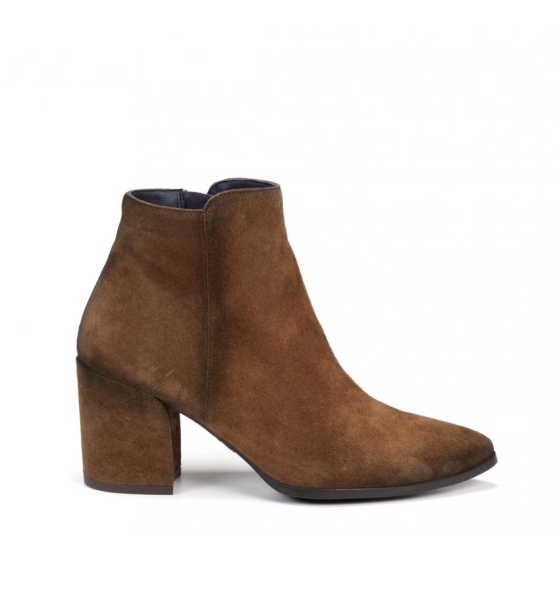 Comprar Dorking Zurit leather ankle boots D7944 brown -Heel height: 7 cm