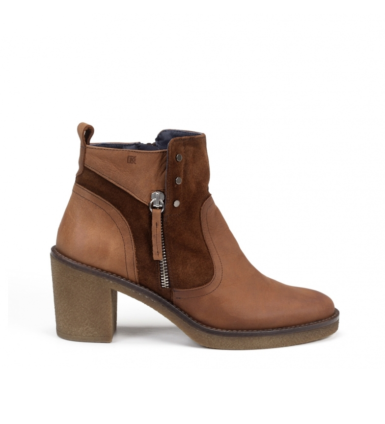 Comprar Dorking Rebe D7993 brown leather ankle boots -Heel height: 6 cm