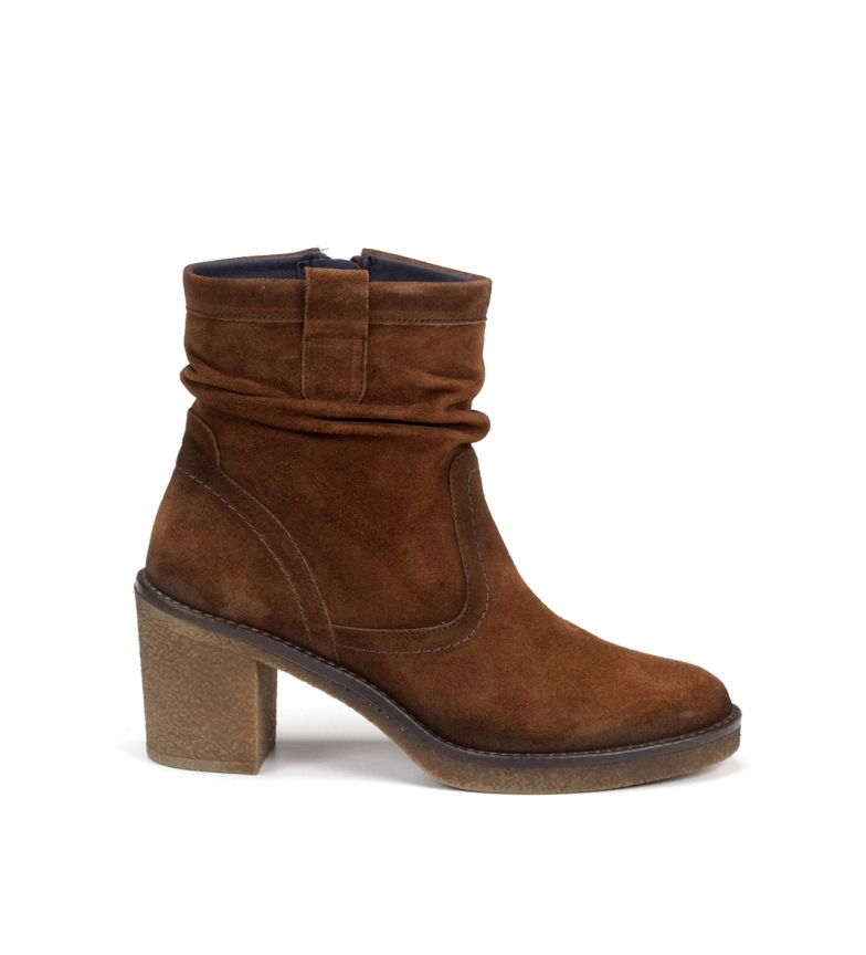 Comprar Dorking Brown Rebe leather ankle boots D7998 -Heel height: 6 cm