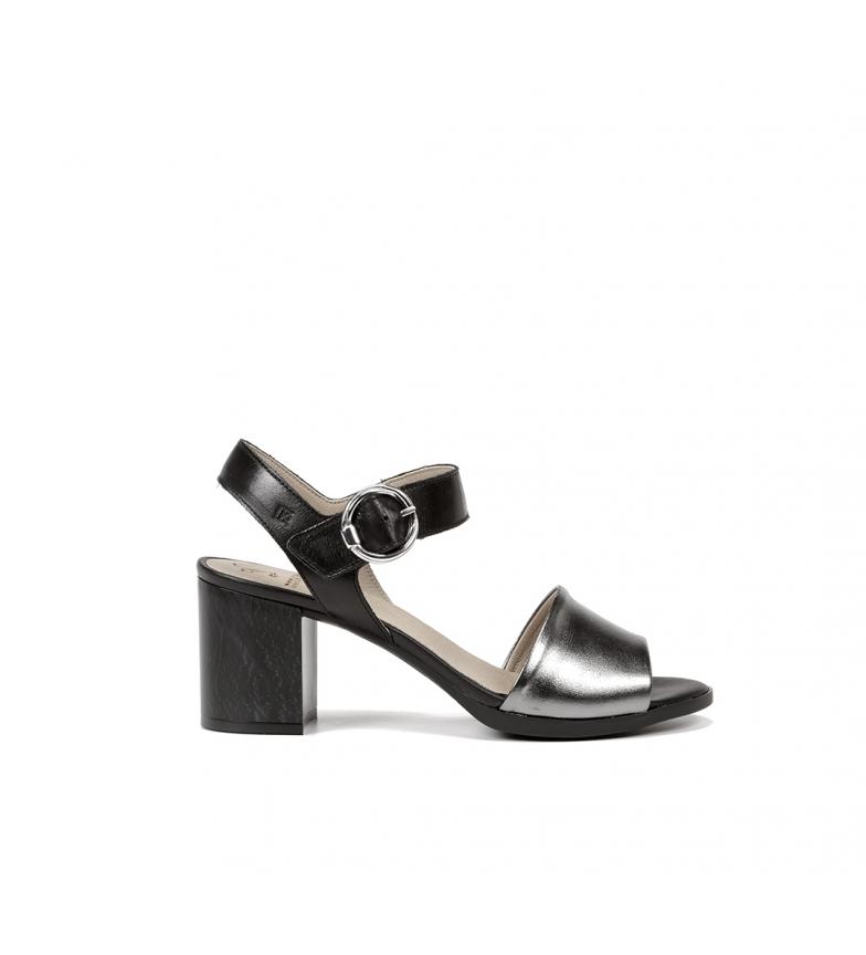 Comprar Dorking Sandalias de piel Norqui D8174 negro -Altura tacón: 6 cm-