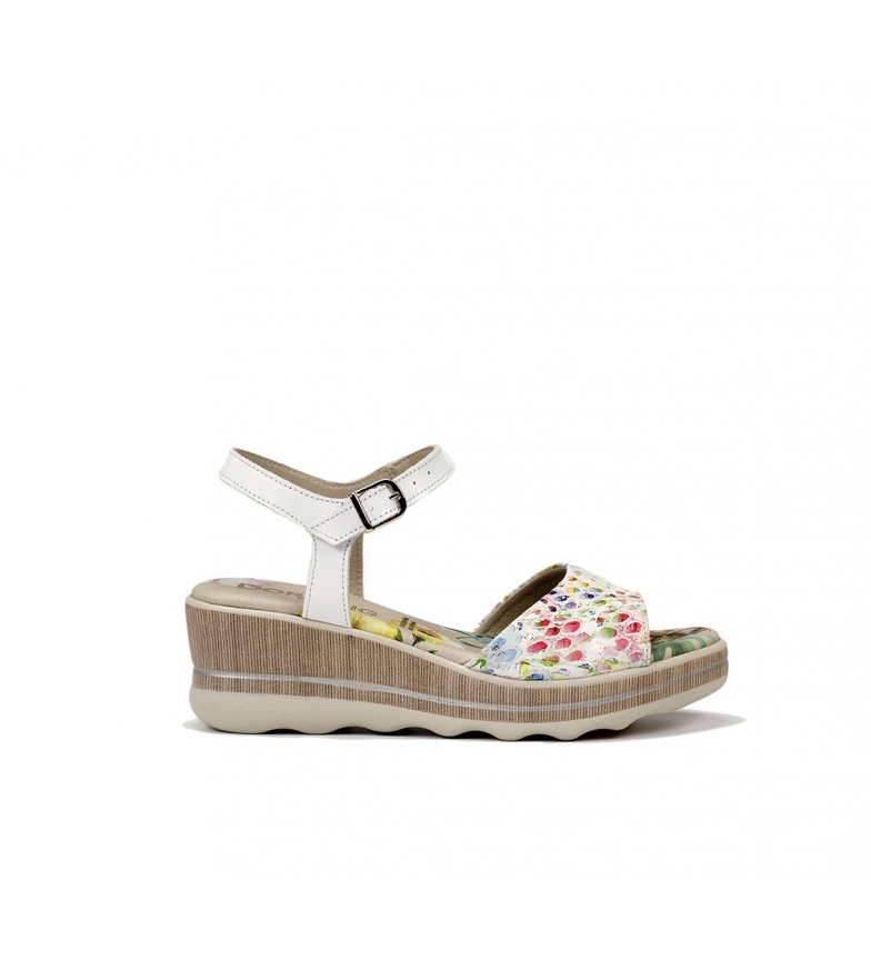 Comprar Dorking Leather sandals Yap D8217 white - Wedge height: 6 cm