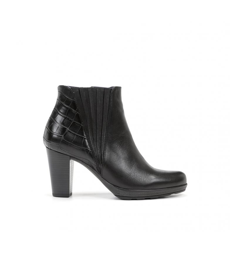 Comprar Dorking Reina D8305 botas de couro preto para tornozelo - Altura do calcanhar: 8 cm