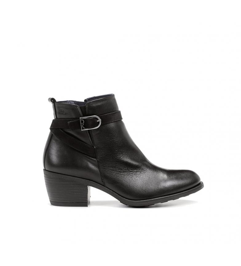 Comprar Dorking Black leather ankle boots D8331 -Heel height: 5,5 cm