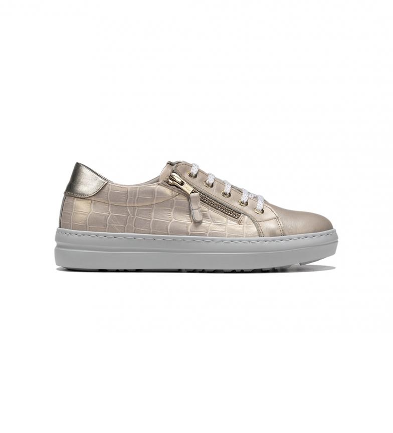 Comprar Dorking D8507 beige leather sneakers