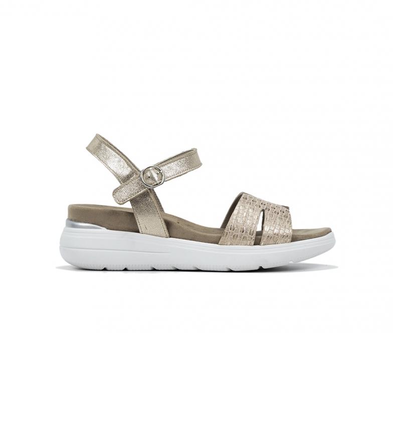 Dorking Sandálias de Couro D8519 douradas