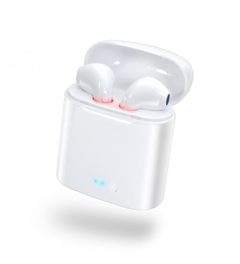 DSB-Auriculares-wireless-Whitey-con-base-de-carga-portatil-Negro-Blanco miniatura 7