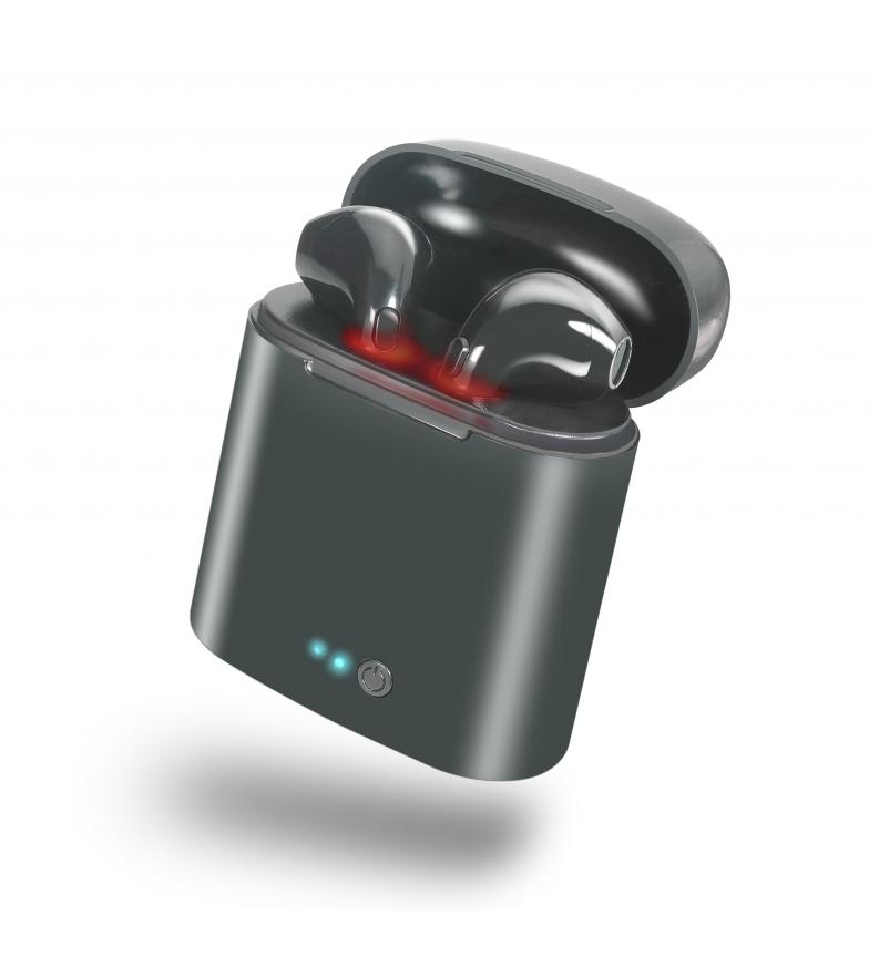 DSB-Auriculares-wireless-Whitey-con-base-de-carga-portatil-Negro-Blanco miniatura 4