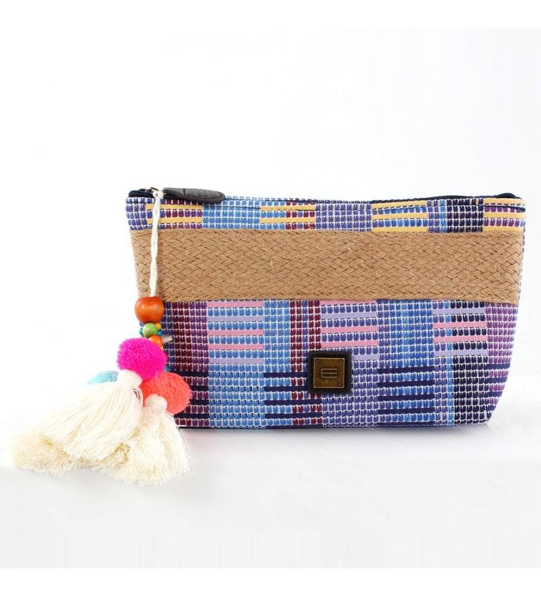 Comprar EFERRI Hari blue raffia handbag -14.5x26x6.5 cm