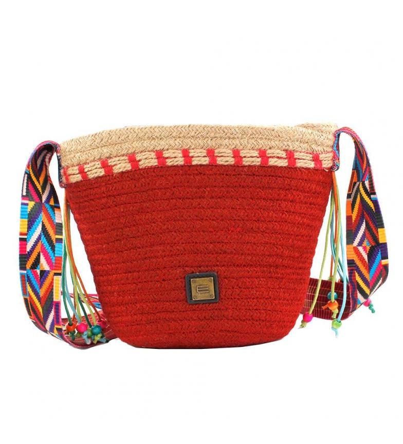 Comprar EFERRI Jute shoulder bag EFERRI Chiara red -19,5x28x11,5cm