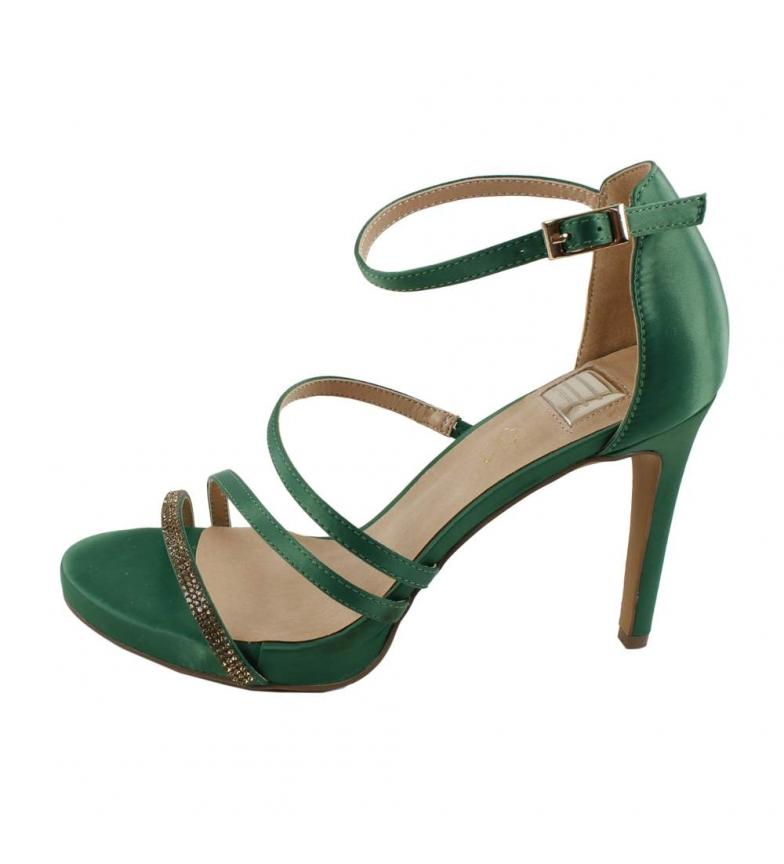 Comprar EFERRI Green Ancona party sandals -Heel height: 8.5cm