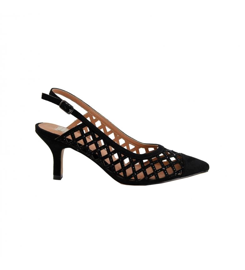 Comprar EFERRI Scarpe da festa in pelle nera Agatar -Altezza tacco: 7 cm-