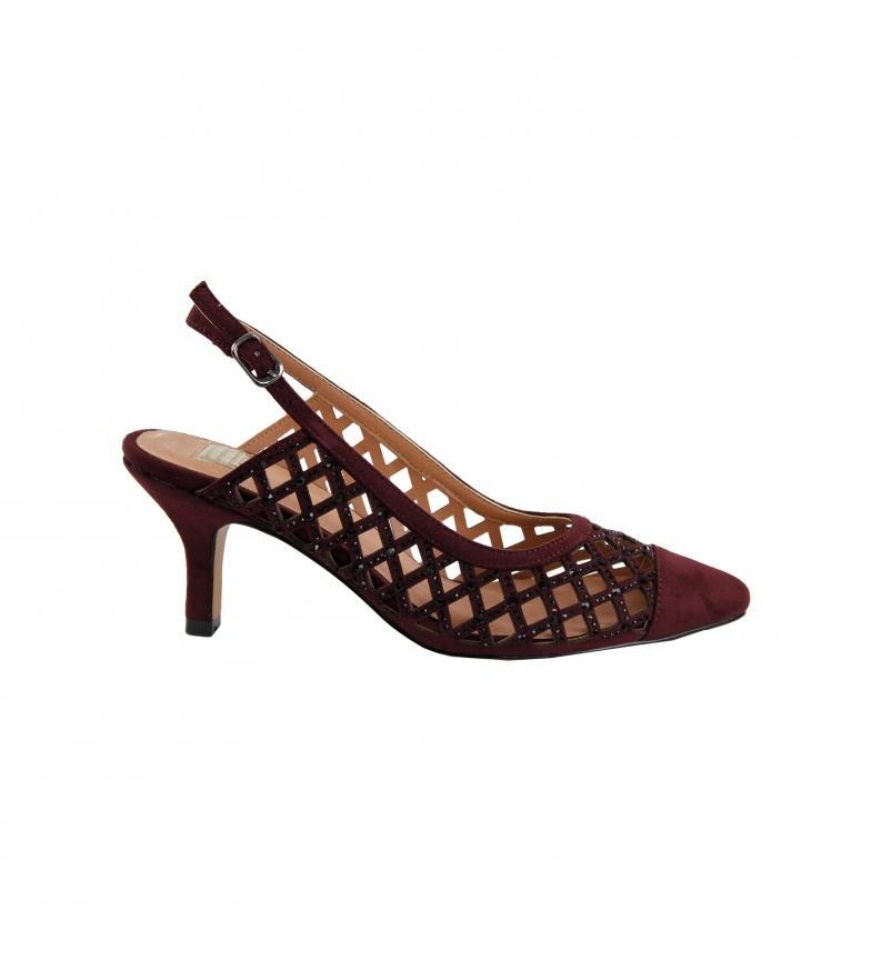 Comprar EFERRI Agatar burgundy leather party shoes -Heel height: 7cm