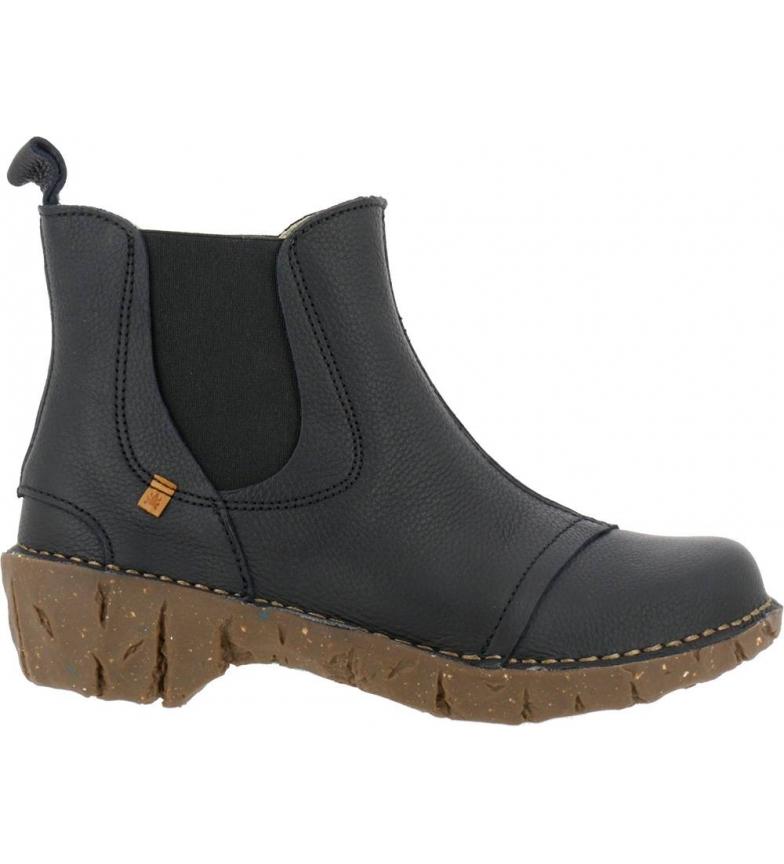 Comprar EL NATURALISTA Yggdrasil N158 black leather ankle boots -Heel height: 4,5 cm