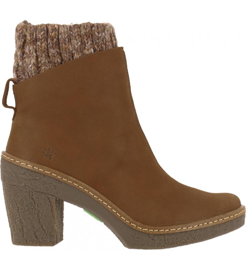 Comprar EL NATURALISTA Beech leather ankle boots N5177 brown -Heel height: 6 cm