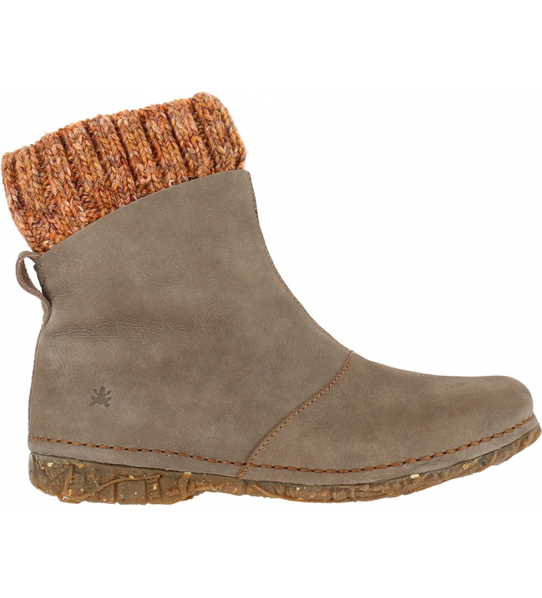 EL NATURALISTA Angkor leather ankle boots N5462 gray