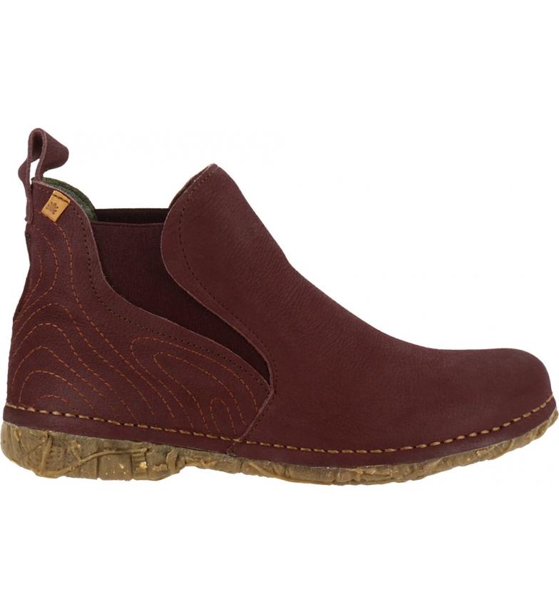 Comprar EL NATURALISTA Angkor leather ankle boots maroon N5465