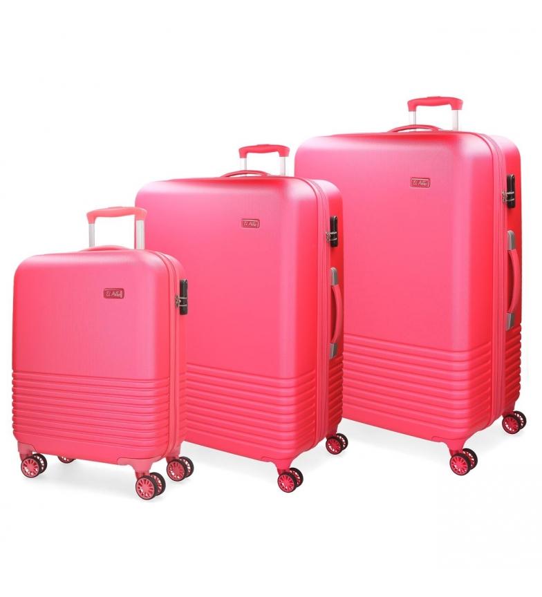 Comprar El Potro Set of suitcases El Potro Ride fucsia 55-69-79cm