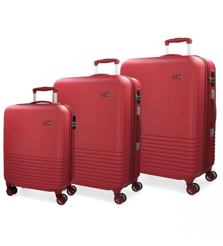 Comprar El Potro Ensemble de valises El Potro Ride rouge 55-69-79cm